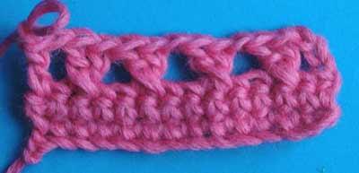 Перекрещенные столбики, вязание крючком, как вязать, уроки вязания для начинающих , курсы вязания крючком
