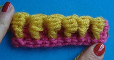 спущенный столбик, блок-столбик, вязание крючком, как вязать, курсы вязания, основы вязания, вязание для начинающих