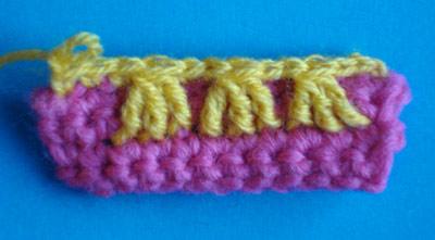 Спущенные столбики, как вязать, урок вязания крючком, вязание крючком для начинающих