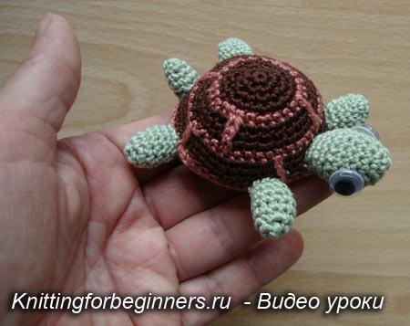 черепаха, вязаная черепаха