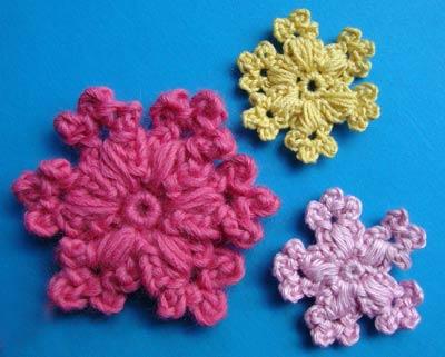 вязаные цветы, как связать цветы крючком, видео урок вязания крючком, вязание крючком для начинающих, снежинка, как вязать снежинку, вязаная снежинка