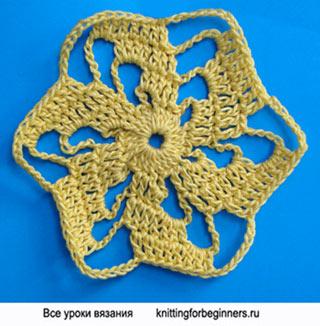 шестиугольник, спираль, как вязать спираль, вязание крючком, шестиугольный мотив