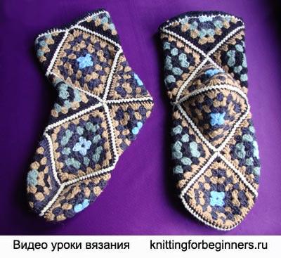 носки из мотивов, как вязать носки крючком, вязание носков, как вязать носки, носки из мотивов, носки крючком, вязание крючком, урок вязания крючком