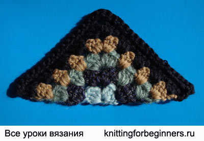 треугольный мотив, вязание треугольника крючком, как связать треугольник