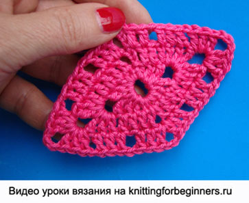 Мотив в форме ромба, как связать ромб, как вяжется ромб, ромб крючком, как вязать ромб, как вязать ромбик, crochet diamond motif, crochet rhombus motif