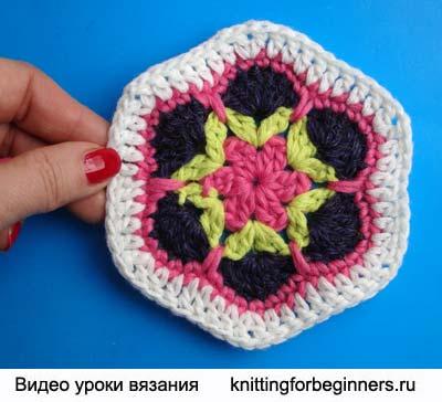 Шестигранник з квітковим візерунком