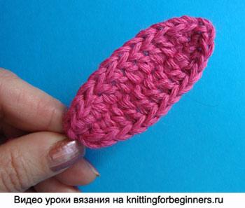 вязаный листик, как вязать листик крючком, вязание листика крючком инструкция