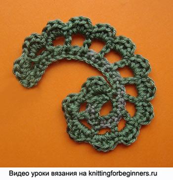 как вязать листик, вязание листика, вязание крючком, ирландское кружево
