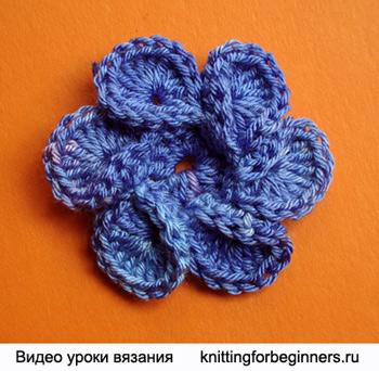 Вяжем спиральный цветок