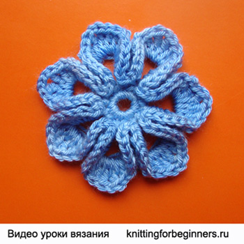 Схема вязаный цветочек