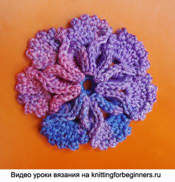 как вязать цветы, цветы крючком, вязаные цветы, вязание цветов