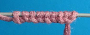 набор петель на спицы, вязание на спицах, вязание спицами
