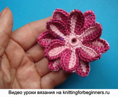 вязаные цветы, цветы крючком