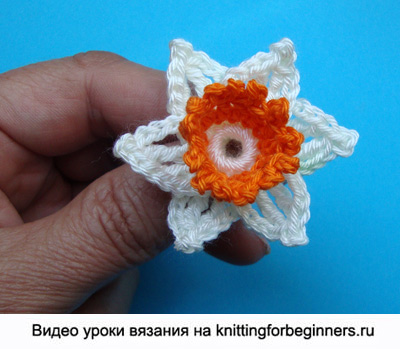 вязаный цветок, как вязать цветы, цветы крючком