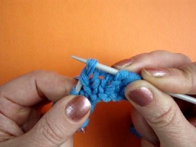 вязание на спицах, лицевая петля