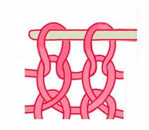 вязание на спицах, скрещенная лицевая петля