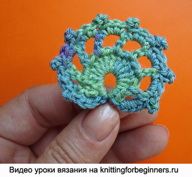 ирландское кружево, листик, вязание крючком