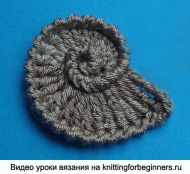 ракушка, как вязать ракушку, вязание ракушки, вязание крючком, видео урок