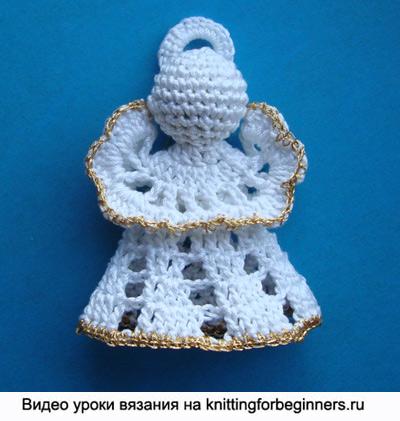 рождественский ангел, ангел, christmas angel, crochet pattern, вязание крючком, как связать ангела