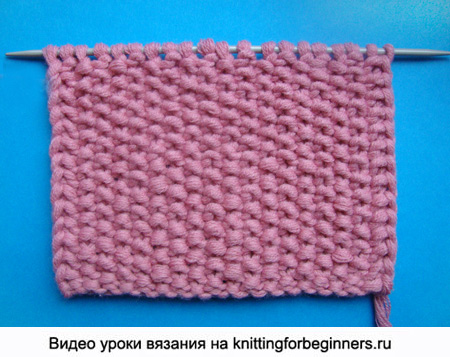 путанка, узор вязания спицами