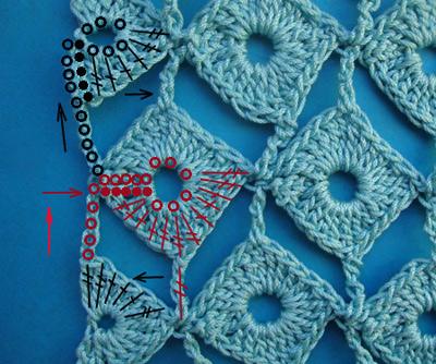 узор вязания крючком, узор вязания, схему узора, вязание крючком