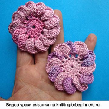 Связанные крючком цветы с