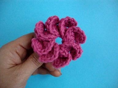 вязаный цветок, вязание цветка, урок вязания
