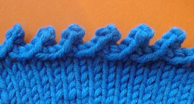 наклонное пико, вязание на спицах, урок вязания, как закрыть петли на спицах
