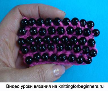вязание с бисером, как вязать бисером