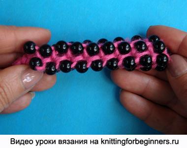 вязание жгута с бисером