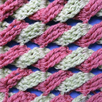 узоры вязания, косичка, как вязать узор косичка, вязание крючком