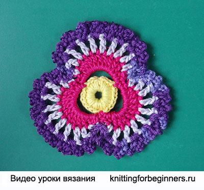 вязаные цветы, ирландское кружево