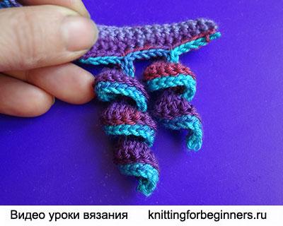 вязание крючком, вязание спирали крючком