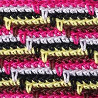 Узоры для вязания крючком разноцветные 990