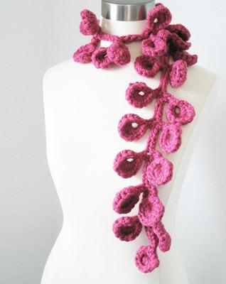 вязание шарфика, шарфик крючком