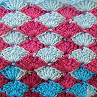 узор вязания, вязание крючком