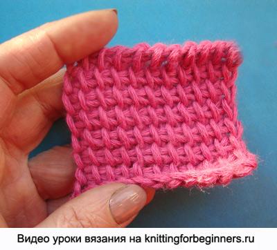 простой тунисский столбик, обозначения тунисское вязание