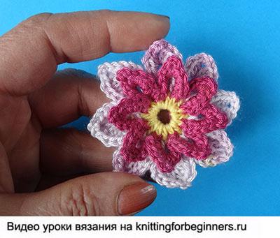 вязаный цветок, вязание крючком, цветы крючком, как вязать цветок