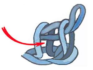 лицевая тунисская петля, тунисское вязание