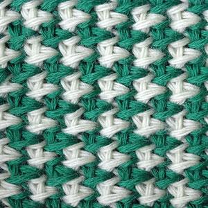 тунисский узор вязания
