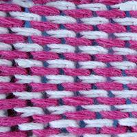 узор вязания, тунисское вязание, узор