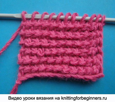 тунисское вязание, уроки