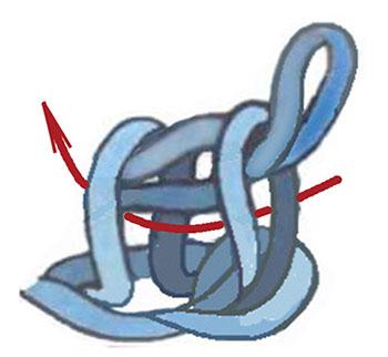 тунисское вязания
