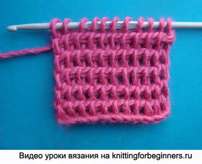 уроки тунисского вязания