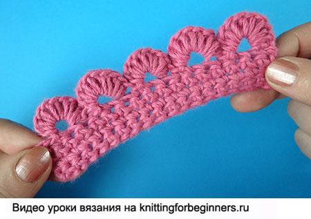 гибридная кайма, вязание крючком