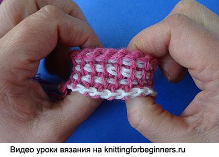вязание на двухсторонних крючках