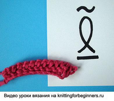 тунисские обозначения, уроки тунисского вязания