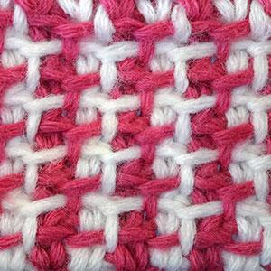 узор вязания крючком, тунисский узор