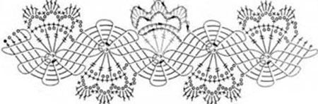 схема брюггское кружево