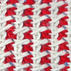 узор тунисского вязания